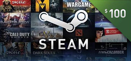 Steam 100 USD Top UP