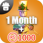 Turbo Builders Club 1Month + 1000 Robux