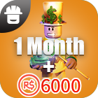Turbo Builders Club 1Month + 6000 Robux