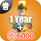 Turbo Builders Club 1Year + 6000 Robux
