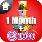 Outrageous Builders Club  1Month + 1000 Robux