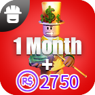 Outrageous Builders Club  1Month + 2750 Robux
