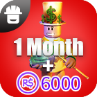 Outrageous Builders Club  1Month + 6000 Robux