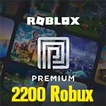 Roblox Premium 1Month + 2200 Robux