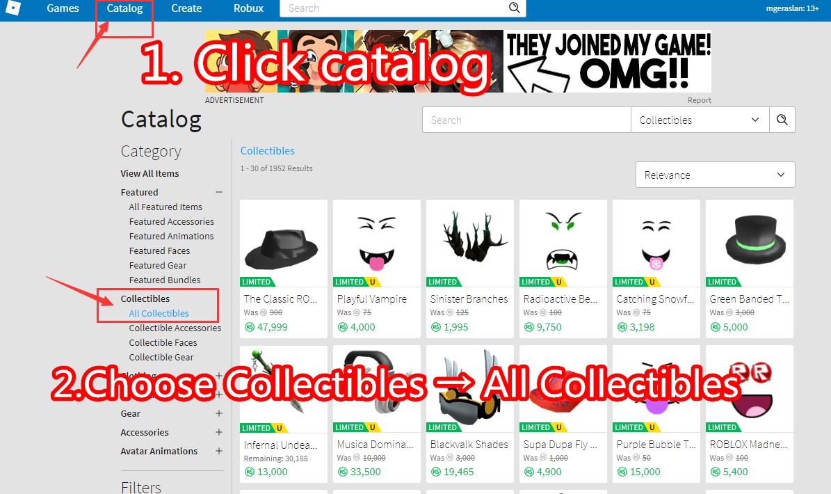How To List Item In Roblox