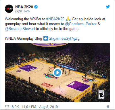 NBA 2K20 to add WNBA players for first time 1